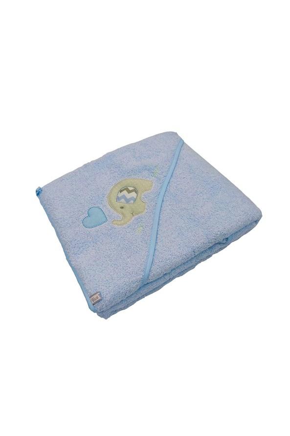 Blue Kids gyerek fürdőlepedő, kék elefánt