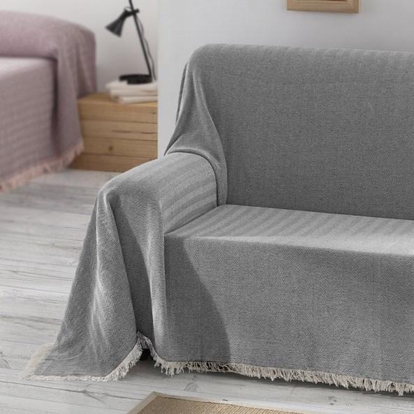 Aitana kanapévédő takaró, szürke