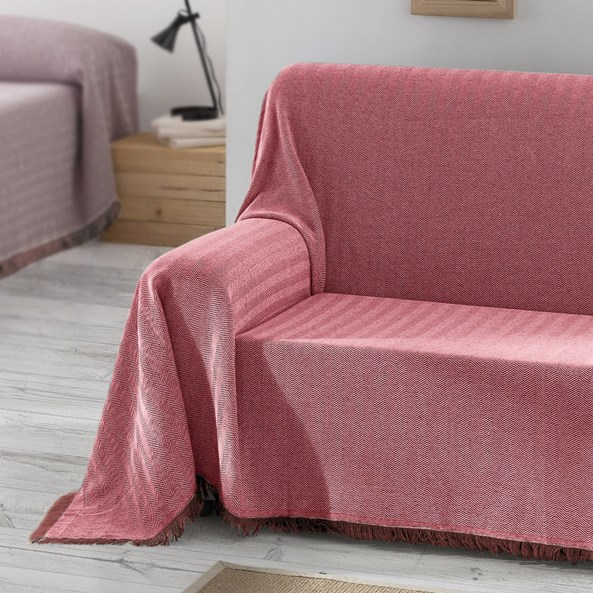 Aitana kanapévédő takaró, piros