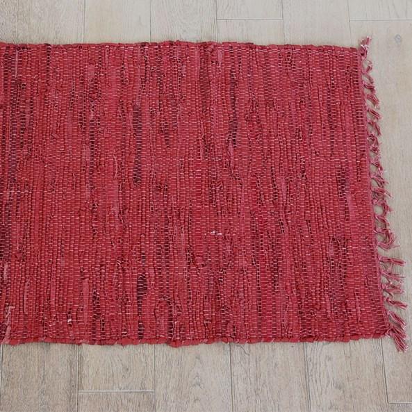 Home Design kis szőnyeg bőrből, piros