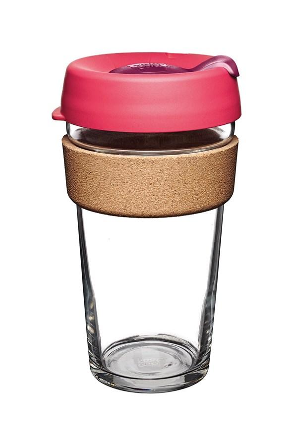 Cana Keepcup 454 ml, cu pluta, roz