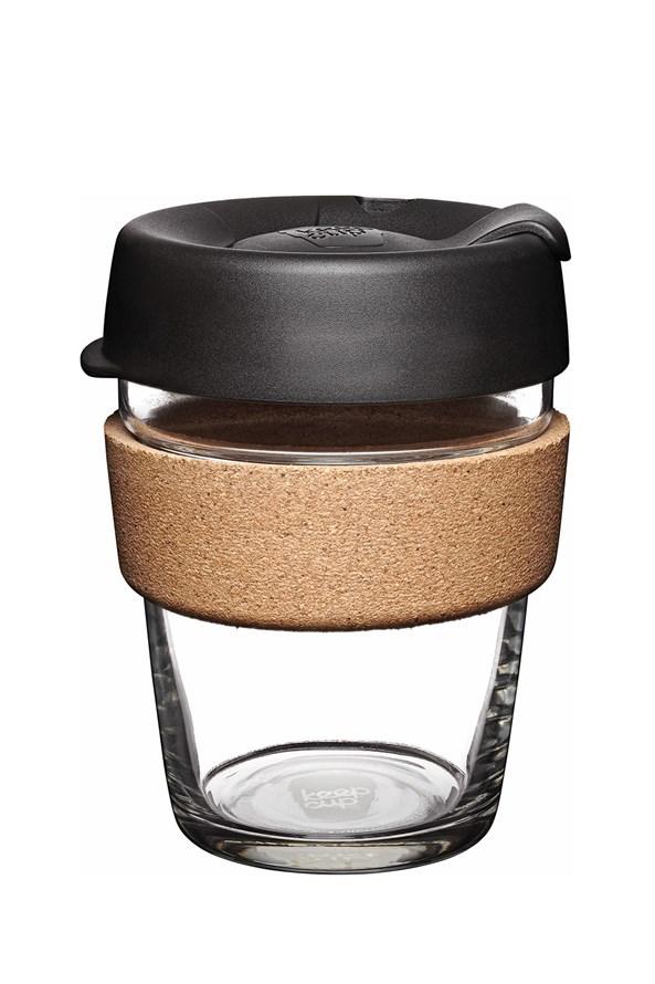 Cana Keepcup 340 ml, negru, cu pluta