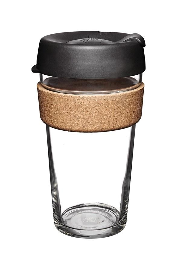 Cestovný hrnček Keepcup čierny s korkom 454 ml