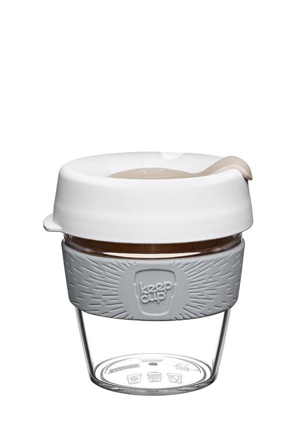 Cana Keepcup 227 ml, din sticla, alb