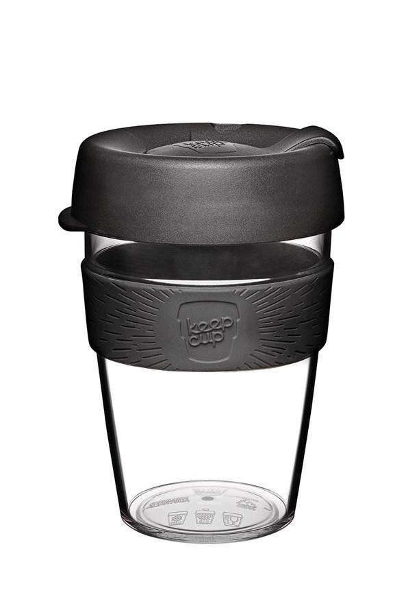 Keepcup utazó bögre tritánból, fekete, 340 ml