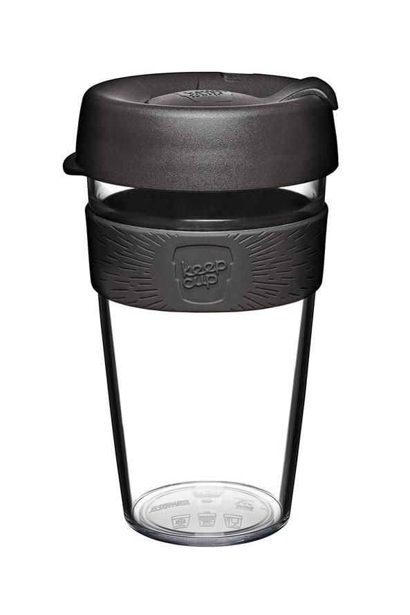Cestovný hnček Keepcup z Tritanu čierny 454 ml