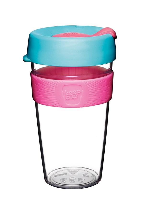 Cana Keepcup 454 ml,, din sticla, roz
