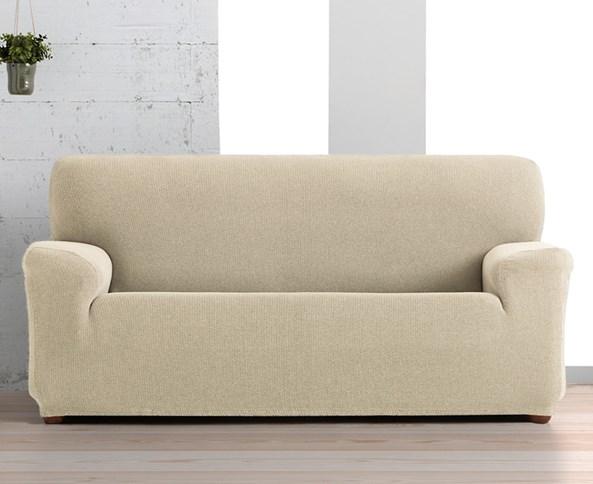 Husa Creta pentru canapea cu trei locuri, bej