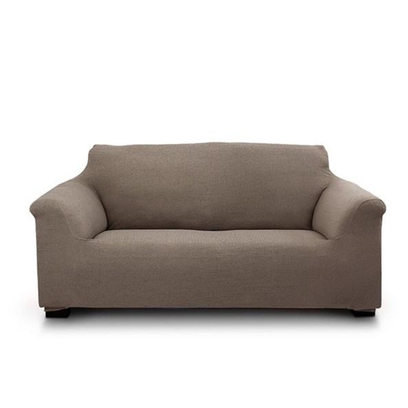 Elegant kétszemélyes kanapéhuzat, barna