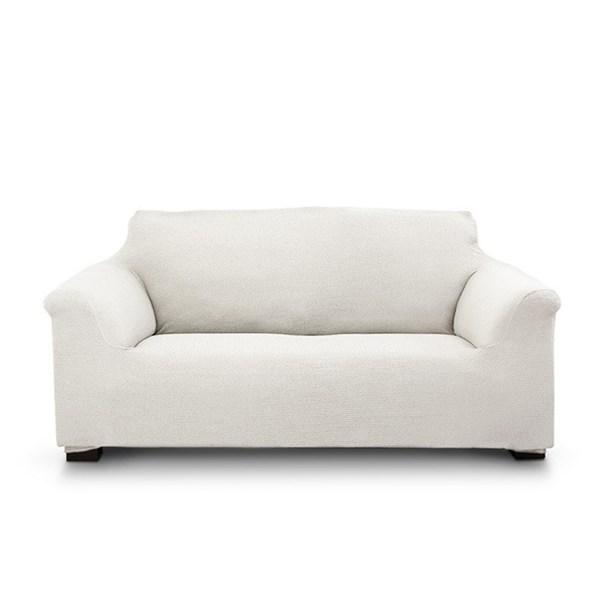 Elegant kétszemélyes kanapéhuzat, krémszínű