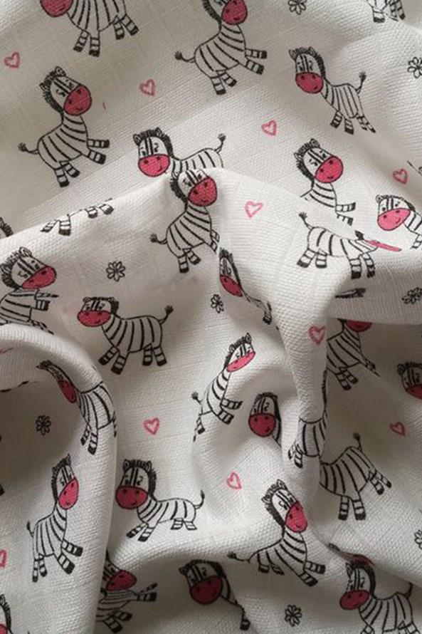 Gyermek pelenka, Zebra, rózsaszín