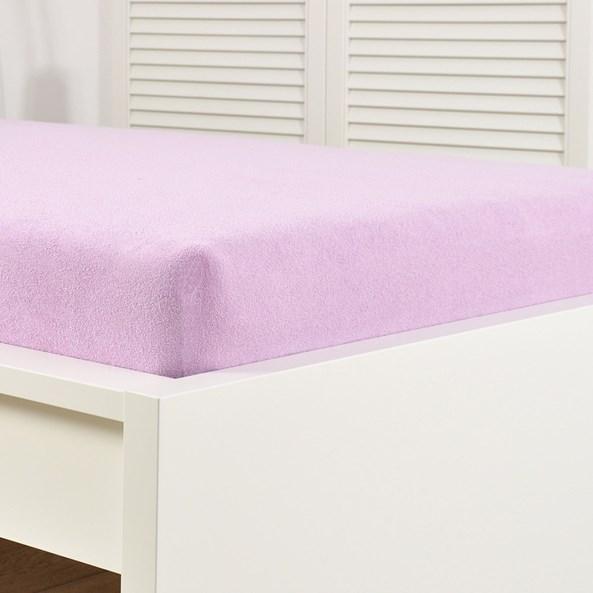 Cearsaf elastic de pat froté, violet