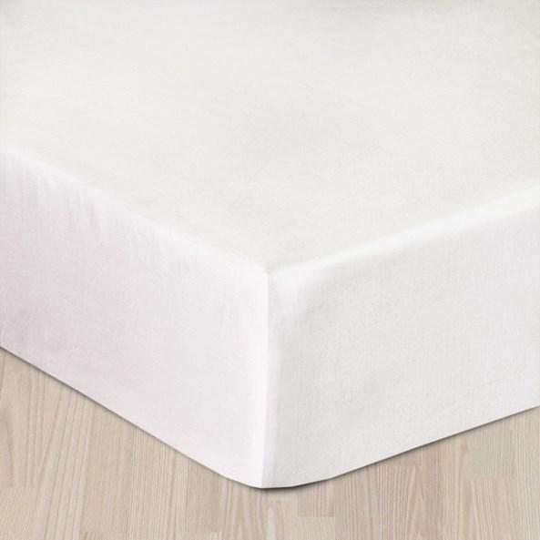 Cearsaf elastic satinat, alb