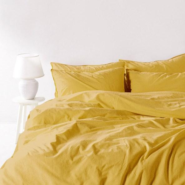 Obliečky Stonewash žlté