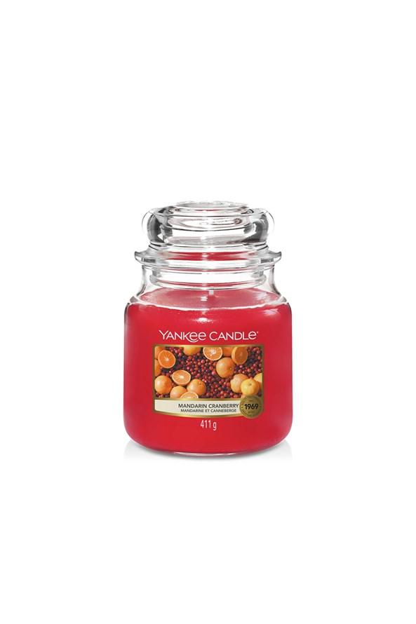 Yankee Candle Mandarin Cranberry gyertya, közepes
