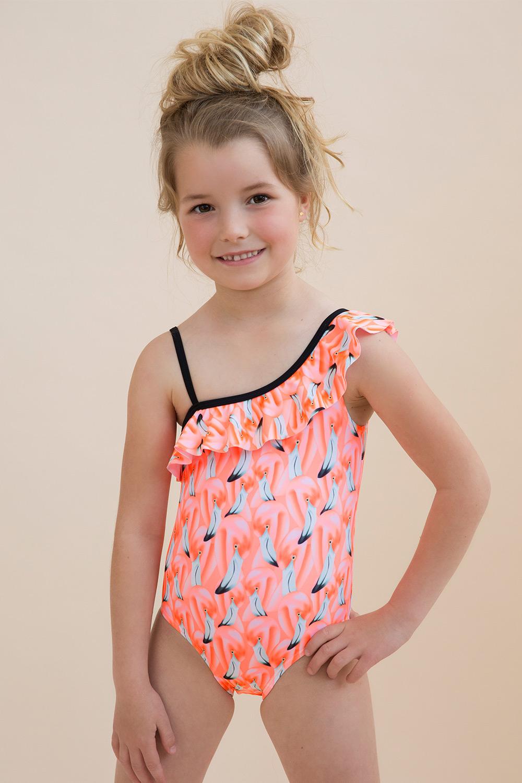 Costum de baie intreg Flamingo, pentru fetite imagine