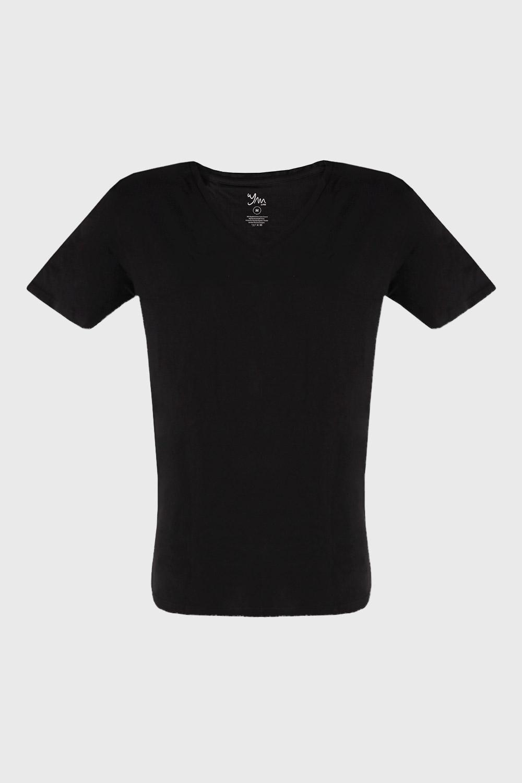 Tricou barbatesc Cotton Nature V, negru