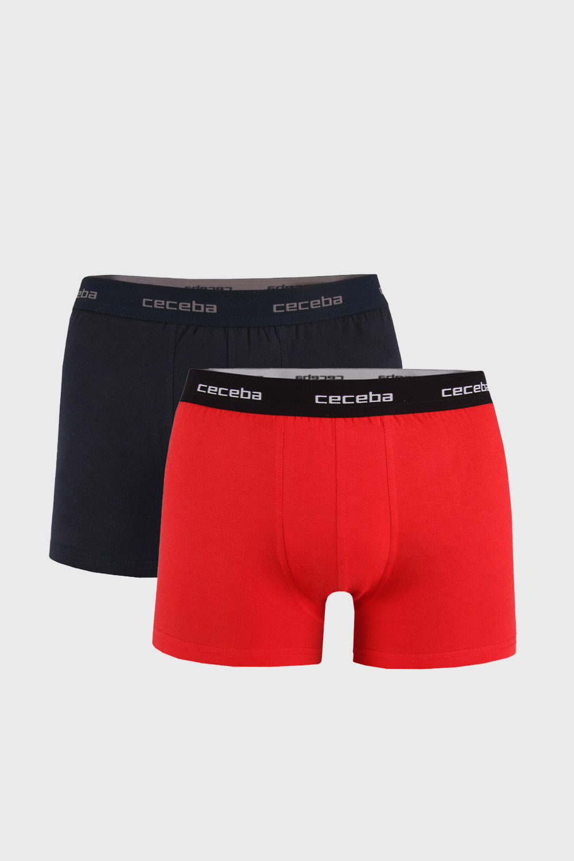 2 PACK boxeri barbatesti X-lastic, rosu-negru