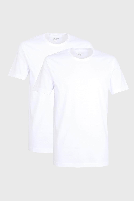 2 pack tricou barbatesc bugatti O-neck, alb imagine