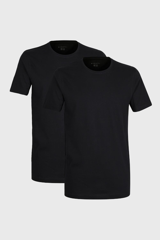 2 pack tricou barbatesc bugatti O-neck, negru imagine