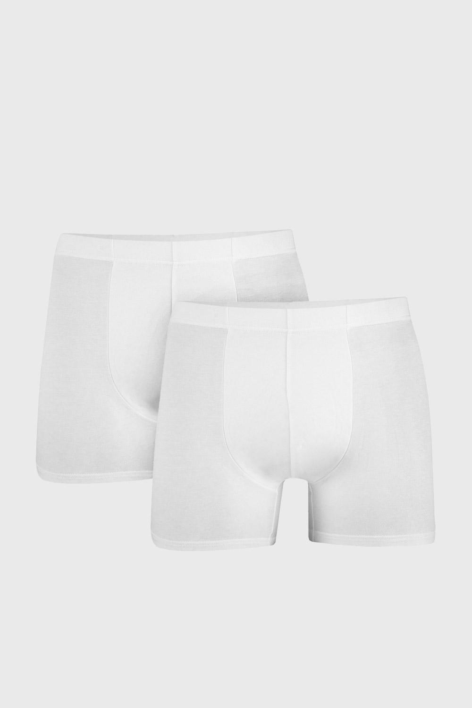 2 PACK boxeri barbatesti Uomo Cotton, alb imagine