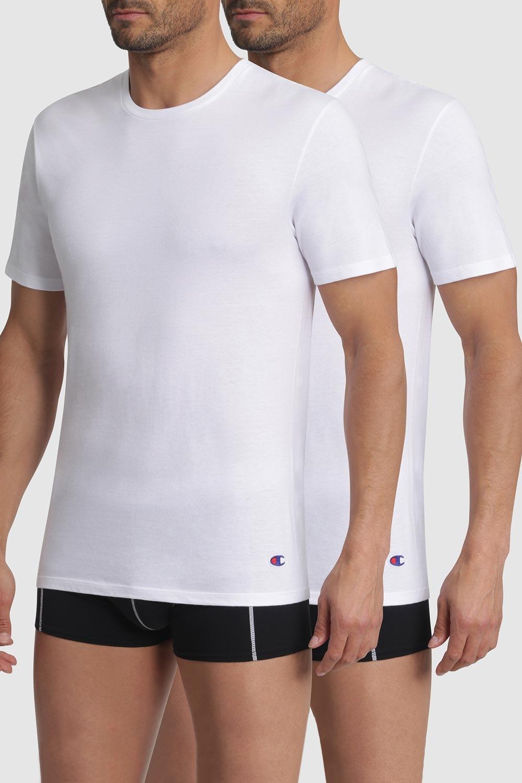 2 pack tricouri barbatesti Champion, alb imagine