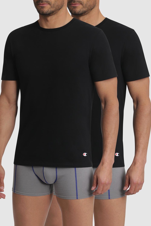 2 pack tricouri barbatesti Champion, negru imagine