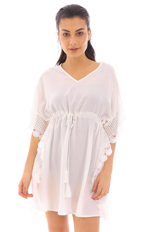 Rochie de plaja angela, alb DOCA