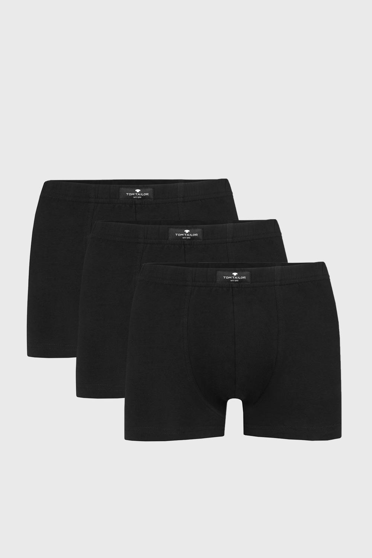 3 PACK boxeri Tom Tailor Hip, negru imagine