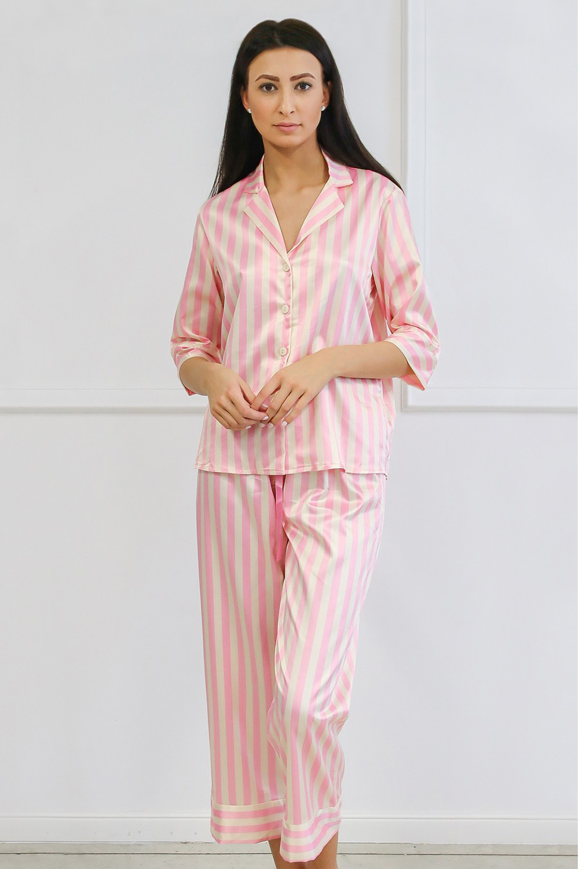 Pijama dama Ashley lung, din satin