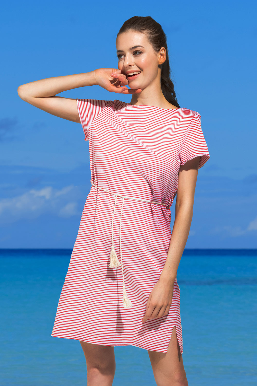 Rochie de plaja Panora, rosu NATURANA