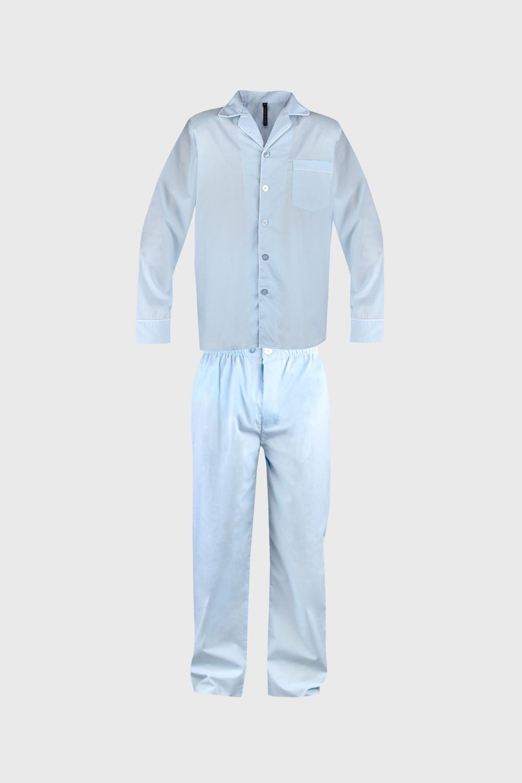Pijama barbateasca Must, albastru deschis