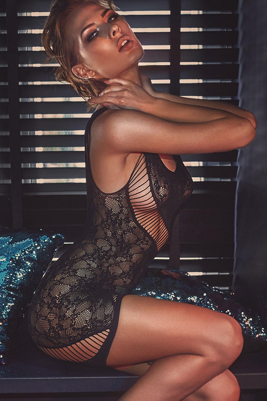 Rochie seducatoare bodystocking Adios imagine