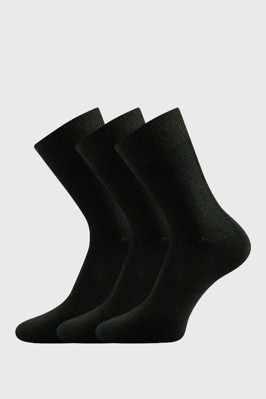 3pack sosete Bardon negre, din fibre de bambus