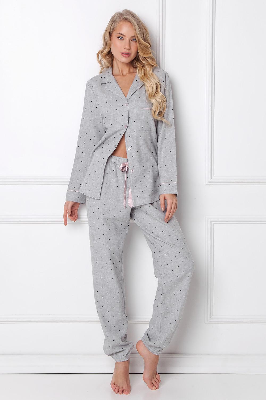 Dámske flanelové pyžamo Christy dlhé