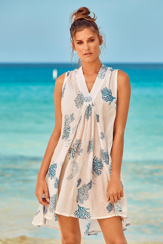 Rochie de plaja Itaca White David-Beachwear