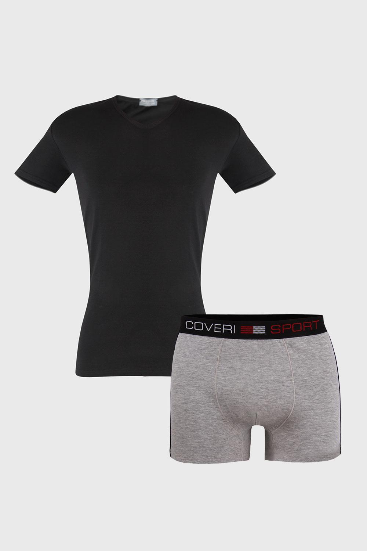 Set pentru barbati Roman, tricou si boxeri imagine