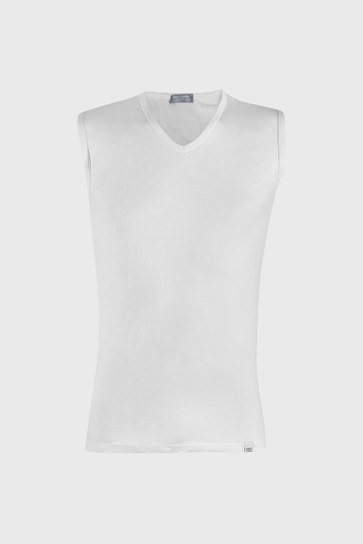 Tricou alb, fara maneci imagine