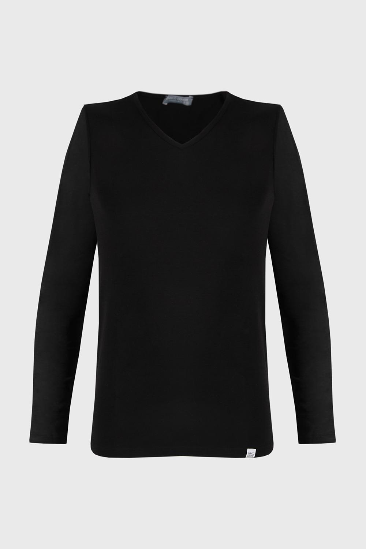Bluza cu maneca lunga, negru imagine