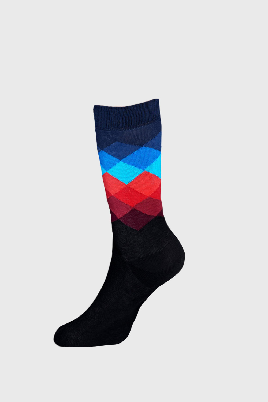 Sosete Happy Socks Faded Diamond imagine
