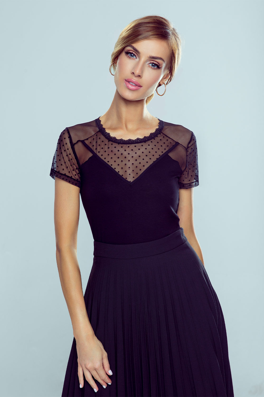 Дамска черна блуза Freda