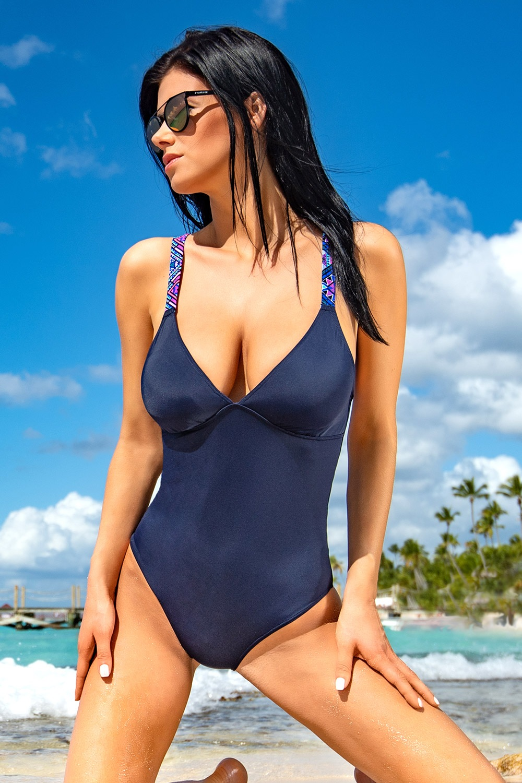 Costum de baie intreg Kamala Blue imagine