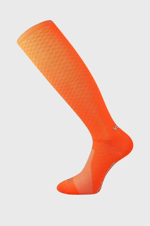 Sosete de compresie Lithe, pana sub genunchi, portocaliu neon