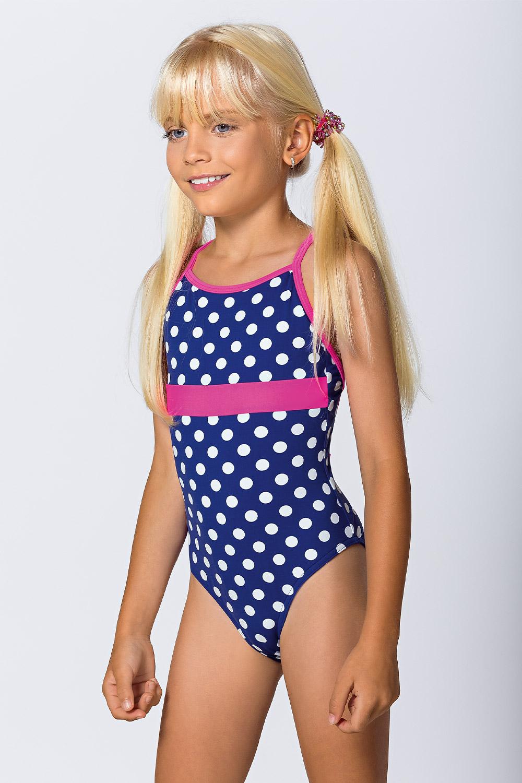 Costum de baie intreg Dots, pentru fetite imagine