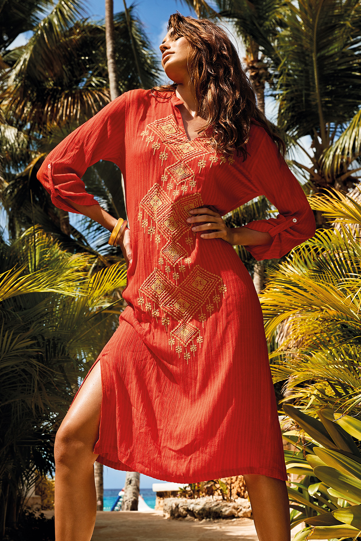 Rochie de plaja Bruna Orange Vacanze